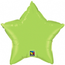 "Lime Green Star Foil Balloon (36"") 1pc"